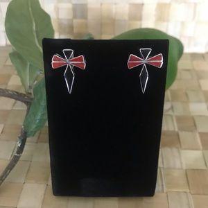 Native American Dragonfly Symbol Post Earrings